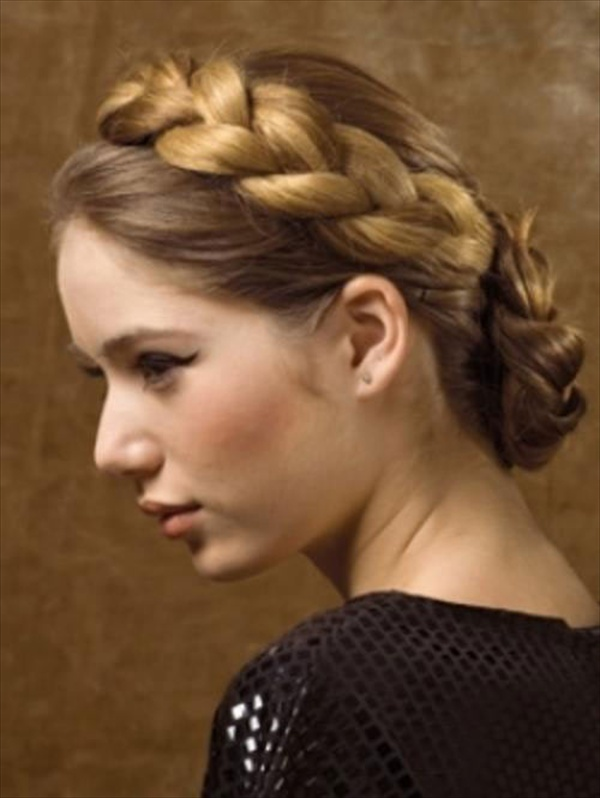 Buns and braids hairstyles