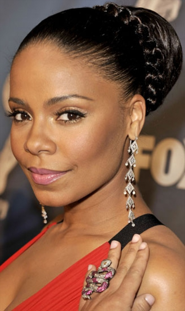Black Women with Cornrows and Buns Hairstyles :