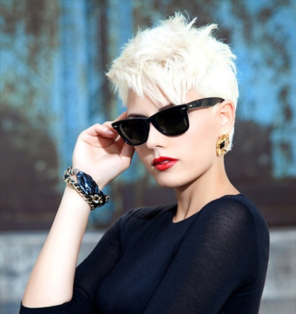 Very short hairstyles 2014