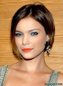 Modern Medium Hairstyles for Thick Hair 2014