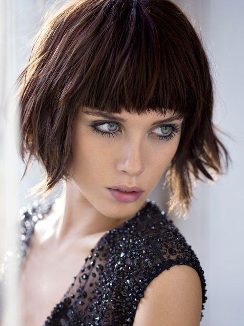 modern modern bob hairstyle with bangs for girls