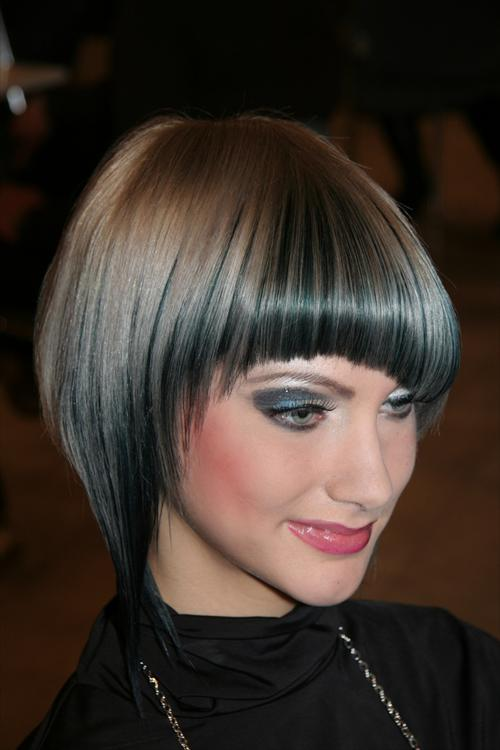 modern modern bob hairstyle with bangs for woman