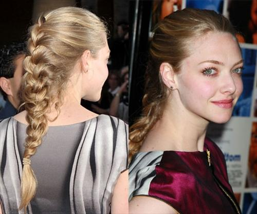 celebrity french braid