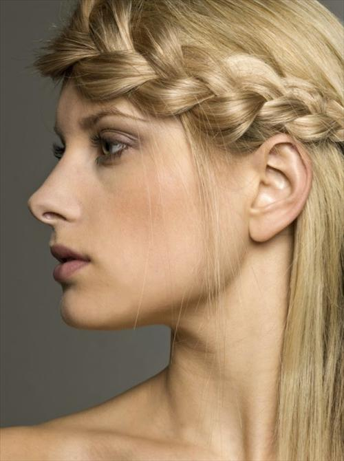 french braid for woman