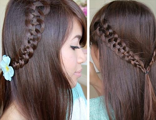 snake tail braid for girls