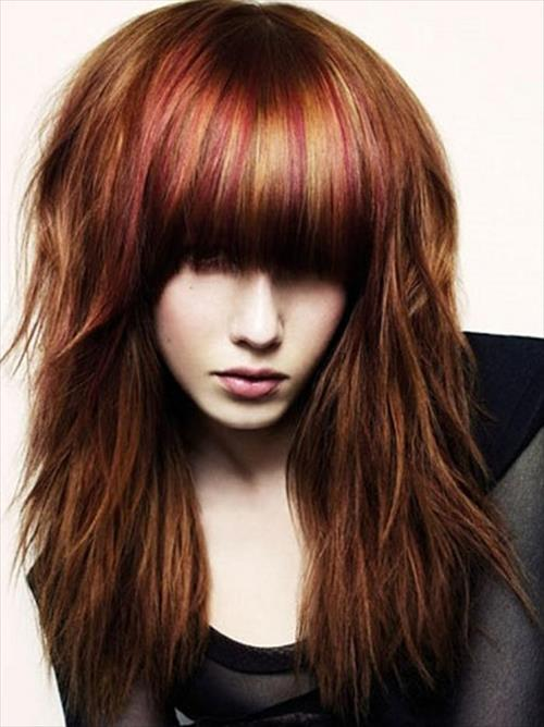 modern fringe hairstyle for girls