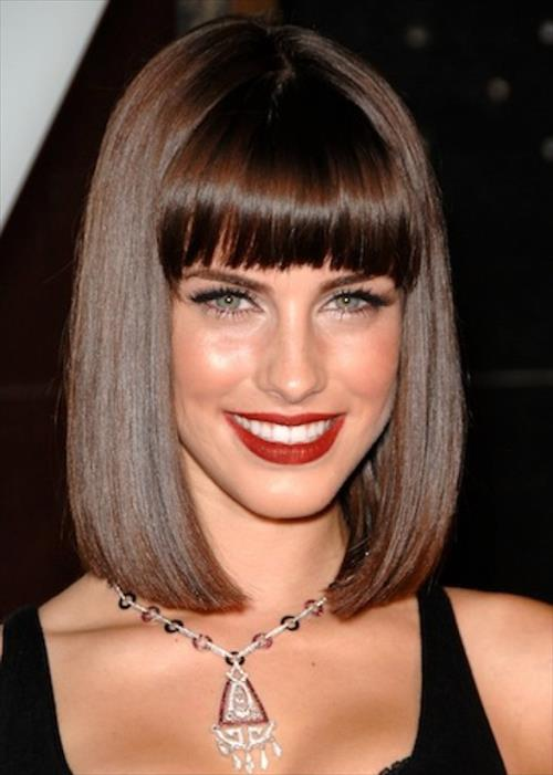 latest fringe hair fashion for girls