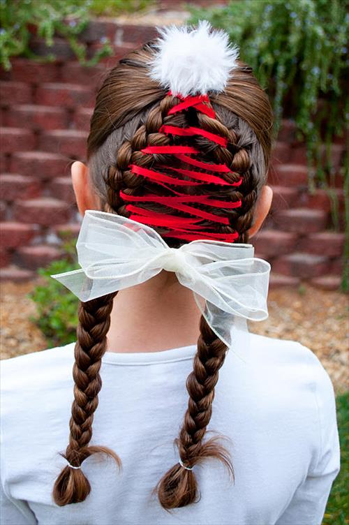 ribbon braid hair fashion for kids
